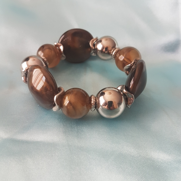 🔥3 for $30🔥New Brown silver stretch bracelet